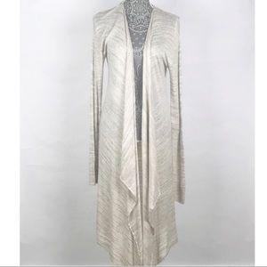 H&M Duster Drape Knit Open Front Cardigan Large